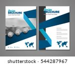 annual report with photo and...   Shutterstock .eps vector #544287967