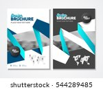 abstract business brochure... | Shutterstock .eps vector #544289485