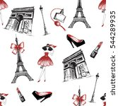fashion seamless pattern... | Shutterstock .eps vector #544289935