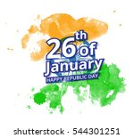 happy indian republic day... | Shutterstock .eps vector #544301251