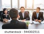 group of vietnamese investors... | Shutterstock . vector #544302511