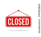closed signage | Shutterstock .eps vector #544302865