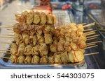 deep fried wonton's on a stick  ... | Shutterstock . vector #544303075