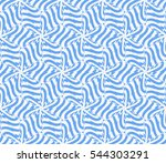 blue color. abstract floral... | Shutterstock . vector #544303291