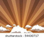 Sunset of a sun - stock vector