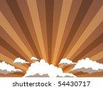 Sunset of a sun - stock vector