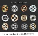 metal gears vector illustration.... | Shutterstock .eps vector #544307275