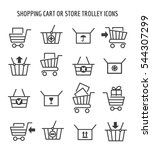 shopping cart or store trolley... | Shutterstock .eps vector #544307299