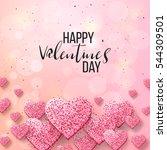 happy valentine day festive... | Shutterstock .eps vector #544309501