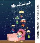christmas illustration. boy...
