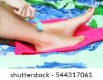 feet care | Shutterstock . vector #544317061