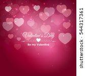 valentine's day heart symbol.... | Shutterstock .eps vector #544317361