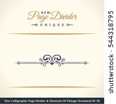 new calligraphic page divider... | Shutterstock .eps vector #544318795