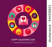 happy valentine day concept....   Shutterstock .eps vector #544328821