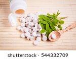 medicine herb. herbal pills... | Shutterstock . vector #544332709