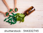 medicine herb. herbal pills... | Shutterstock . vector #544332745