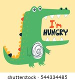 hungry crocodile vector... | Shutterstock .eps vector #544334485