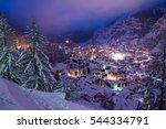 aerial view on zermatt valley... | Shutterstock . vector #544334791