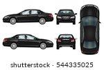 Black Car Vector Template....