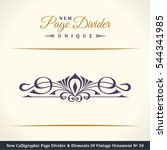 new calligraphic page divider... | Shutterstock .eps vector #544341985