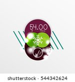 christmas sale stickers with... | Shutterstock . vector #544342624