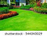 blurred green lawn  the front... | Shutterstock . vector #544343029