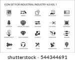 reusable icon set for industry... | Shutterstock .eps vector #544344691