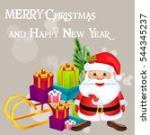 christmas poster holiday... | Shutterstock .eps vector #544345237