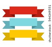 title banner ribbons icon. flat ... | Shutterstock .eps vector #544349551
