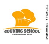 cooking school logo design | Shutterstock .eps vector #544350211