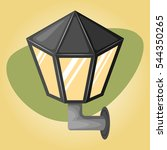 street light colorful icon | Shutterstock .eps vector #544350265