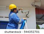 a male worker doing a... | Shutterstock . vector #544352701
