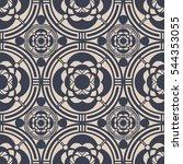 japanese pattern design.... | Shutterstock .eps vector #544353055