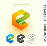 vector abstract letter e logo.... | Shutterstock .eps vector #544359571