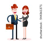 flat businessman and... | Shutterstock .eps vector #544361371