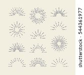 set of vintage sunbursts in... | Shutterstock .eps vector #544361977