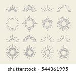 set of vintage sunbursts in... | Shutterstock .eps vector #544361995