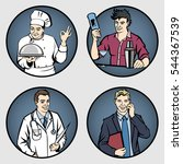 set of men's professions. male... | Shutterstock .eps vector #544367539