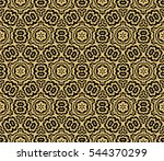 black floral creative geometric ... | Shutterstock . vector #544370299