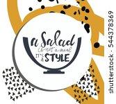 salad hand lettering design.... | Shutterstock .eps vector #544378369