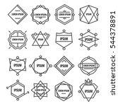 set geometric signs  labels ...   Shutterstock .eps vector #544378891