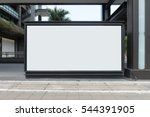large blank billboard on a... | Shutterstock . vector #544391905