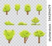 pixel art green summer or... | Shutterstock .eps vector #544394479