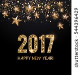 happy new year 2017 card with... | Shutterstock .eps vector #544396429
