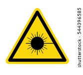 laser radiation sign  stock... | Shutterstock .eps vector #544396585