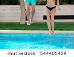 close up of girl and boy legs... | Shutterstock . vector #544405429