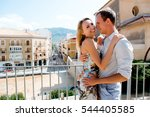 couple walking in the city of... | Shutterstock . vector #544405585