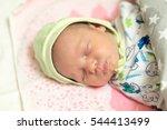 cute newborn baby sleeps in the ...   Shutterstock . vector #544413499