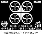 white quadrotor screws rotation ... | Shutterstock .eps vector #544415929