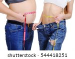 a guy with a big belly and a... | Shutterstock . vector #544418251